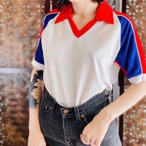 Vintage Red White & Blue Shirt